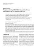 "Báo cáo hóa học: "" Research Article Nonparametric Single-Trial EEG Feature Extraction and Classification of Driver's Cognitive """