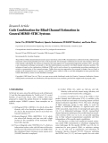 """Báo cáo hóa học: """"  Research Article Code Combination for Blind Channel Estimation in General MIMO-STBC System"""""""