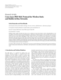 """Báo cáo hóa học: """" Research Article Cross Layer PHY-MAC Protocol for Wireless Static and Mobile Ad Hoc Networks"""""""