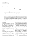 """Báo cáo hóa học: """"  Research Article A Common Coordinates/Heading Direction Generation Method for a Robot Swarm with Only RSSI-Based Ranging"""""""