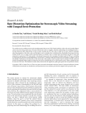 """Báo cáo hóa học: """"  Research Article Rate-Distortion Optimization for Stereoscopic Video Streaming with Unequal Error Protection"""""""