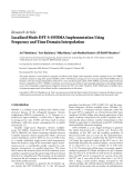 """Báo cáo hóa học: """"  Research Article Localized Mode DFT-S-OFDMA Implementation Using Frequency and Time Domain Interpolation"""""""
