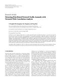 "Báo cáo hóa học: ""  Research Article Detecting Distributed Network Traffic Anomaly with Network-Wide Correlation Analysis"""