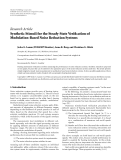 "Báo cáo hóa học: "" Research Article Synthetic Stimuli for the Steady-State Verification of Modulation-Based Noise Reduction Systems"""