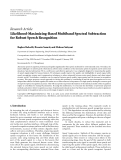 "Báo cáo hóa học: ""  Research Article Likelihood-Maximizing-Based Multiband Spectral Subtraction for Robust Speech Recognition"""