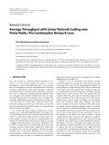 "Báo cáo hóa học: ""   Research Article Average Throughput with Linear Network Coding over Finite Fields: The Combination Network Case"""