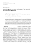 "Báo cáo hóa học: "" Research Article New Technique for Improving Performance of LDPC Codes in the Presence of Trapping S"""