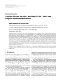 """Báo cáo hóa học: """" Research Article Construction and Iterative Decoding of LDPC Codes Over Rings for Phase-Noisy Channels"""