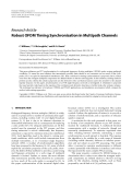 """Báo cáo hóa học: """" Research Article Robust OFDM Timing Synchronisation in Multipath Channels"""""""