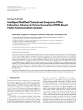 "Báo cáo hóa học: "" Research Article Intelligent Modified Channel and Frequency Offset Estimation Schemes in Future Generation OFDM-Based Packet Communication Systems"""