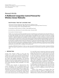 """Báo cáo hóa học: """" Research Article A Multievent Congestion Control Protocol for Wireless Sensor Networks"""""""