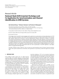 "Báo cáo hóa học: "" Research Article Reduced-Rank Shift-Invariant Technique and Its Application for Synchronization and Channel Identification in UWB Systems"""