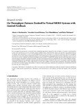 """Báo cáo hóa học: """"Research Article On Throughput-Fairness Tradeoff in Virtual MIMO Systems with Limited Feedback"""""""