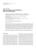 "Báo cáo hóa học: "" Research Article Reduced Complexity Channel Models for IMT-Advanced Evaluation"""