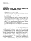"""Báo cáo hóa học: """" Research Article Turbo Processing for Joint Channel Estimation, Synchronization, and Decoding in Coded MIMO-OFDM Systems"""""""