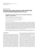 "Báo cáo hóa học: ""Research Article The Performance of Relay-Enhanced Cellular OFDMA-TDD Network for Mobile Broadband Wireless Services"""