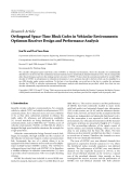 "Báo cáo hóa học: ""Research Article Orthogonal Space-Time Block Codes in Vehicular Environments: Optimum Receiver Design and Performance Analysis"""
