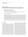 "Báo cáo hóa học: ""Research Article Dynamic Model of Signal Fading due to Swaying Vegetation"""