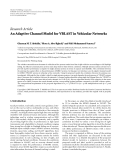 "Báo cáo hóa học: "" Research Article An Adaptive Channel Model for VBLAST in Vehicular Networks"""