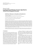 "Báo cáo hóa học: "" Research Article Cost-Based Vertical Handover Decision Algorithm for WWAN/WLAN Integrated Networks"""