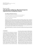 """Báo cáo hóa học: """"Research Article Achievable Rates and Resource Allocation Strategies for Imperfectly Known Fading Relay Channels"""""""