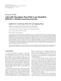 "Báo cáo hóa học: "" Research Article Achievable Throughput-Based MAC Layer Handoff in IEEE 802.11 Wireless Local Area Networks"""