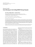 "Báo cáo hóa học: "" Research Article Secret Sharing over Fast-Fading MIMO Wiretap Channels"""