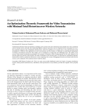 """Báo cáo hóa học: """" Research Article An Optimization Theoretic Framework for Video Transmission with Minimal Total Distortion over Wireless Networks"""""""