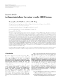 "Báo cáo hóa học: ""Research Article An Opportunistic Error Correction Layer for OFDM Systems"