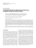 "Báo cáo hóa học: "" Research Article A Scheduling Algorithm for Minimizing the Packet Error Probability in Clusterized TDMA Networks"""