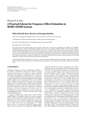 """Báo cáo hóa học: """" Research Article A Practical Scheme for Frequency Offset Estimation in MIMO-OFDM Systems"""""""