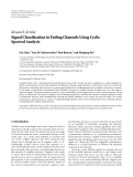 "Báo cáo hóa học: ""Research Article Signal Classification in Fading Channels Using Cyclic Spectral Analysis"""