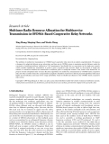 """Báo cáo hóa học: """" Research Article Multiuser Radio Resource Allocation for Multiservice Transmission in OFDMA-Based Cooperative Relay Networks"""""""