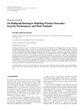 """Báo cáo hóa học: """"Research Article On Multipath Routing in Multihop Wireless Networks: Security, Performance, and Their Tradeoff"""""""