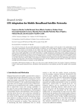 "Báo cáo hóa học: ""Research Article LTE Adaptation for Mobile Broadband Satellite Networks"""