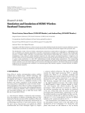 "Báo cáo hóa học: ""Research Article Simulation and Emulation of MIMO Wireless Baseband Transceivers"""