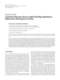 """Báo cáo hóa học: """"Research Article A QoS-Based Dynamic Queue Length Scheduling Algorithm in Multiantenna Heterogeneous Systems"""""""