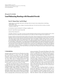 "Báo cáo hóa học: ""Research Article Load Balancing Routing with Bounded Stretch"""