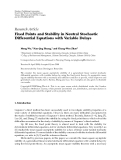 """Báo cáo hóa học: """" Research Article Fixed Points and Stability in Neutral Stochastic Differential Equations with Variable Delays"""""""