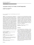 """Báo cáo hóa học: """"  Assessment of the In Vivo Toxicity of Gold Nanoparticles"""""""