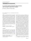 "Báo cáo hóa học: "" Use of Ionic Liquid in Fabrication, Characterization, and Processing of Anodic Porous Alumina"""