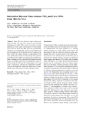 """Báo cáo hóa học: """" Interaction Between Nano-Anatase TiO2 and Liver DNA from Mice In Vivo"""""""