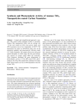 """Báo cáo hóa học: """" Synthesis and Photocatalytic Activity of Anatase TiO2 Nanoparticles-coated Carbon Nanotub"""""""