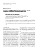 "Báo cáo hóa học: "" Research Article On the Throughput Capacity of Large Wireless Ad Hoc Networks Confined to a Region of Fixed Area"""