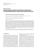 """Báo cáo hóa học: """" Research Article Handoff Triggering and Network Selection Algorithms for Load-Balancing Handoff in CDMA-WLAN Integrated Networks"""""""