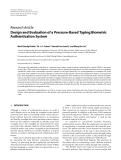 "Báo cáo hóa học: ""  Research Article Design and Evaluation of a Pressure-Based Typing Biometric Authentication System"""