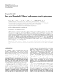 "Báo cáo hóa học: "" Research Article Encrypted Domain DCT Based on Homomorphic Cryptosystems"""