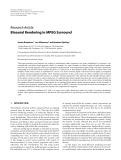 "Báo cáo hóa học: ""  Research Article Binaural Rendering in MPEG Surround"""