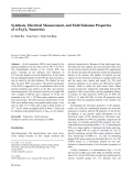 """Báo cáo hóa học: """" Synthesis, Electrical Measurement, and Field Emission Properties of a-Fe2O3 Nanowires"""""""