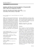 """Báo cáo hóa học: """"  Synthesis and Microstructural Investigations of Organometallic Pd(II) Thiol-Gold Nanoparticles Hybrids"""""""